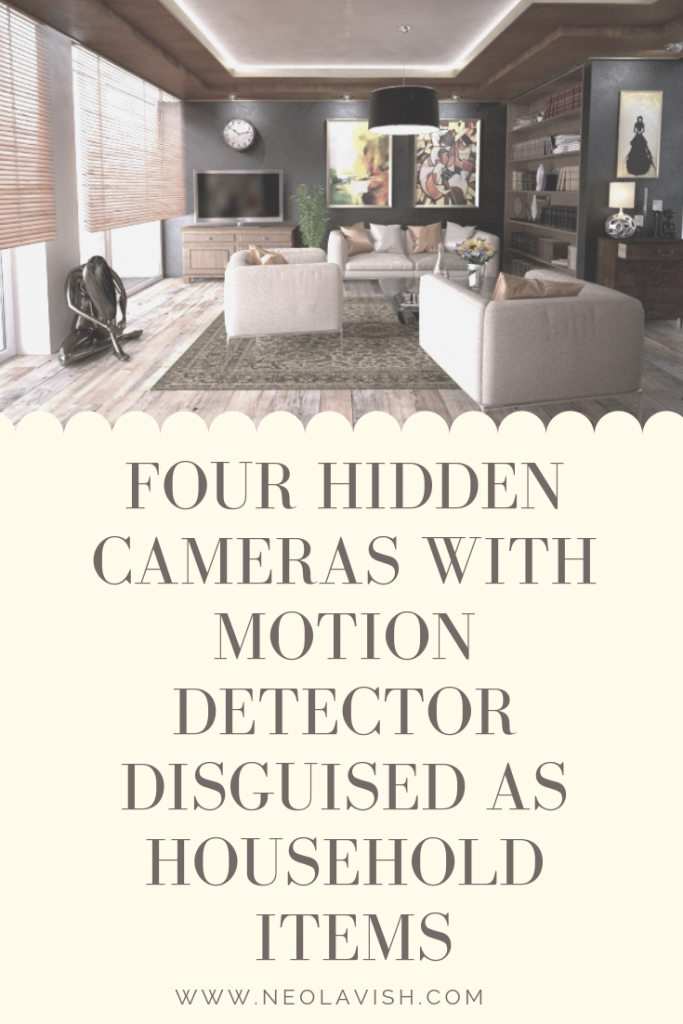 Neolavish's Four Hidden Cameras with Motion Detector Disguised As Household Items