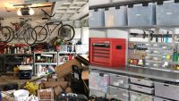 Before and after hiring a professional home organizer