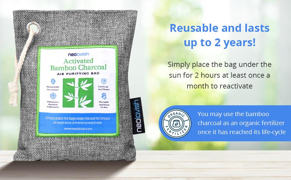 Neolavish Air Purifying Bag Activated Bamboo Charcoal